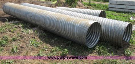 Assorted Galvanized Culvert No Reserve Auction On