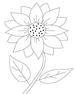 coloring pages printable sunflower coloring pages