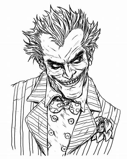 Joker Drawing Comic Line Dc Draw Comics