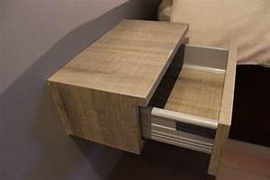 Table De Chevet Suspendue : chevet suspendu 1 tiroir design en image ~ Teatrodelosmanantiales.com Idées de Décoration