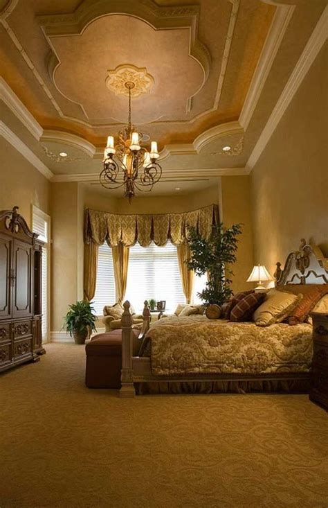 master bedroom with high ceiling crown molding zillow