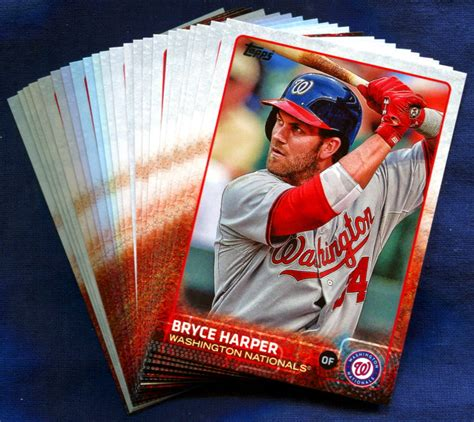 Here is our hottest baseball rookie cards 2021 list. 2015 Topps Washington Nationals Baseball Cards Team Set