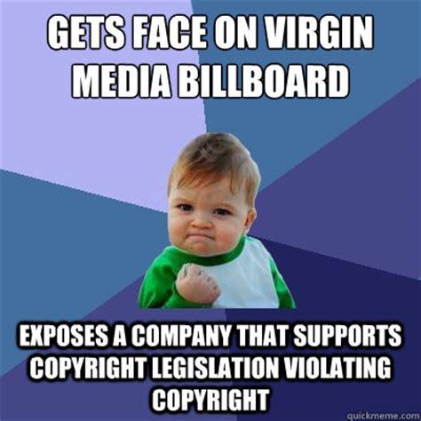Virgin Memes - virgin media using success kid meme for marketing