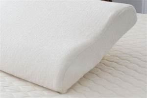 Medium dunlop latex contour pillow in organic cotton casing for Best latex contour pillow