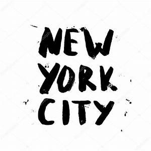 New York Schriftzug : new york city schriftzug design stockvektor jly19 85751778 ~ Frokenaadalensverden.com Haus und Dekorationen