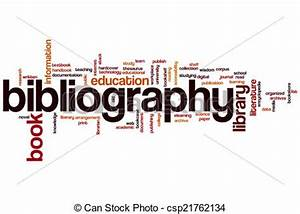 Drawings of Bibliography word cloud - Bibliography concept ...