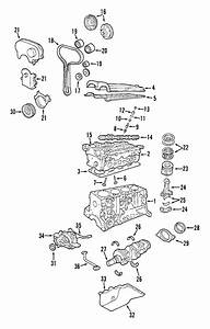 2003 Ford Focus Engine Timing Cover  Front   Upper  Outer