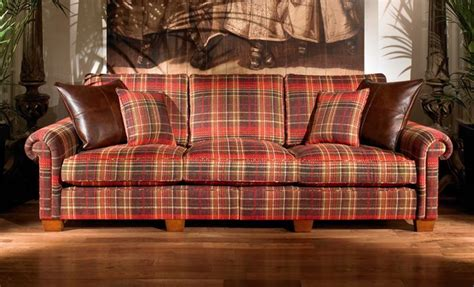 plantation plaid  seater duresta sofa  living room
