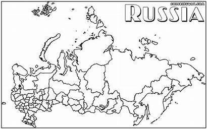 Russia Coloring Russian Pages Map Popular Meet