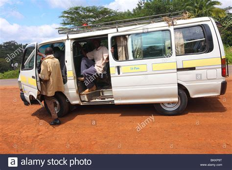 Kenya, Transportation Matatu Highlands Of Karatina Stock