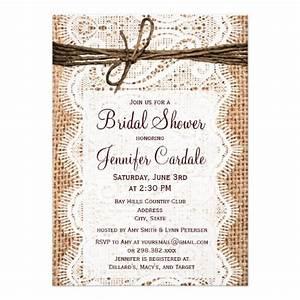 rustic country burlap bridal shower invitations 45quot x 6 With rustic wedding shower invitations