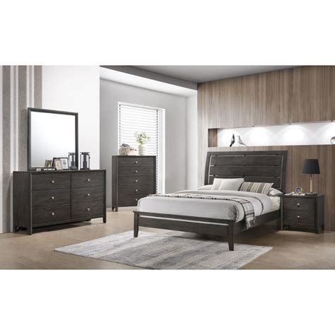 contemporary gray california king bedroom set grant rc
