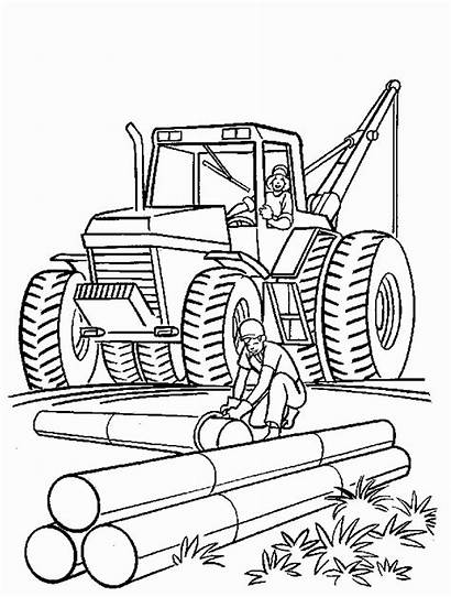 Coloring Construction Pages Printable Site Constructions Birthday