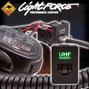 Lightforce Uhf Radio Rj45 Dash Switch Panel Blank Socket