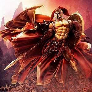 dit is Ares de god van de oorlog zoon van Zeus en Hera ...