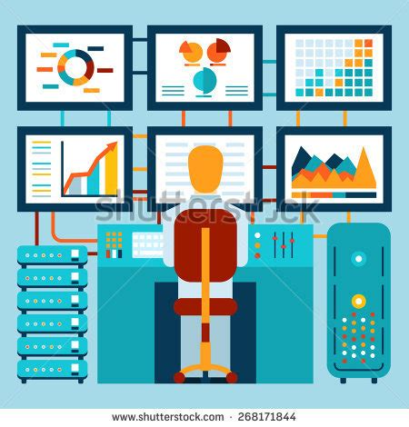 analysis information  dashboard flat style stock vector