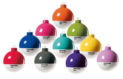 pantone christmas baubles for accurate holiday color matching