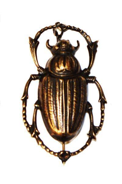 egyptian beetle brooch