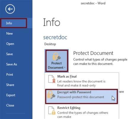 password protect encrypt microsoft excel  file