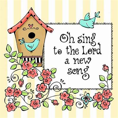 Sing Oh Coloring Psalm God Birds Bible