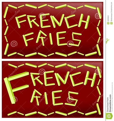 word french fries stock  image