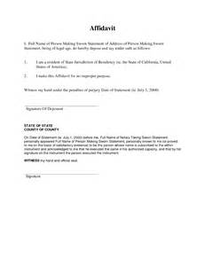 Sample Affidavit of Residency Form