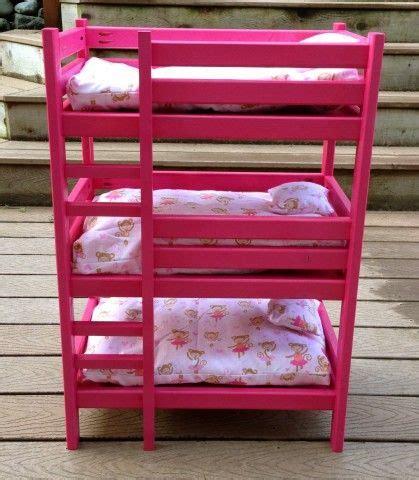 triple doll bunk bed american girl doll ideas doll