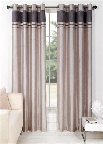 charlotte faux silk fully lined eyelet curtains