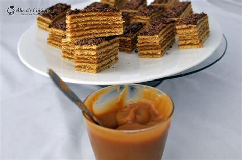 m ier de la cuisine prajitura cu foi cu miere si crema caramel alina 39 s cuisine