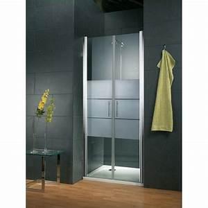 porte de douche battante style verre depoli light anti With calcaire porte douche