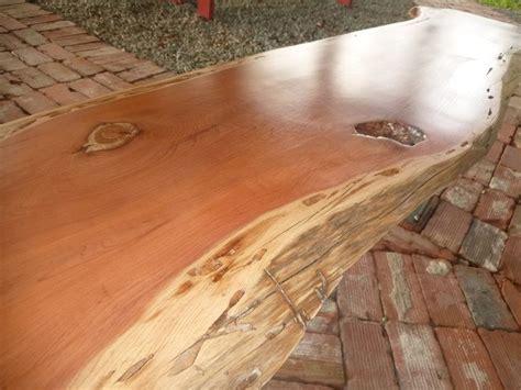 natural wood desk top live edge solid hardwood cedar wood slab natural color