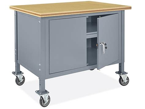 mobile cabinet workbench    composite wood top