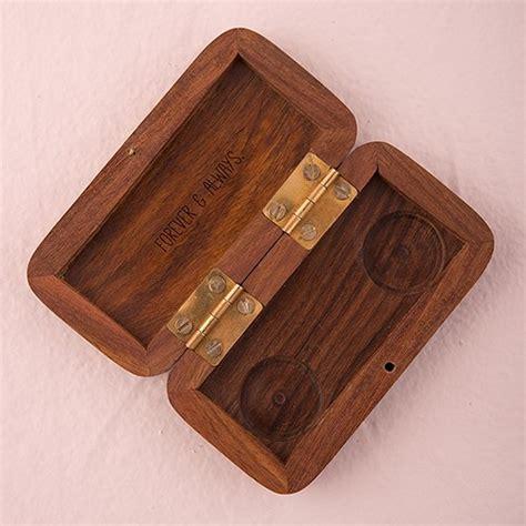 small personalised wooden ring jewellery box hand written monogram confetticouk