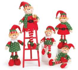 augustusreveredexalted look 5 piece plush christmas elves elf with wood ladder adorable holiday