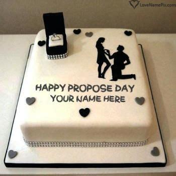 beautiful design love proposal cake card   happy