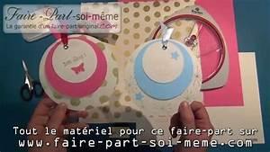 Faire Ses Moustiquaires Soi Même : faire part de naissance rond papillon youtube ~ Melissatoandfro.com Idées de Décoration