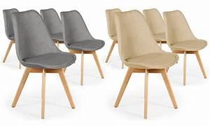 Lot 4 Chaises Scandinaves : chaises scandinaves tissu conor groupon shopping ~ Teatrodelosmanantiales.com Idées de Décoration