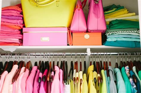 Colorful Closet by 1000 Ideas About Color Coded Closet On