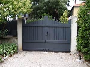 Portail En Aluminium : portail mod le amboise plein battant en aluminium alu ~ Melissatoandfro.com Idées de Décoration