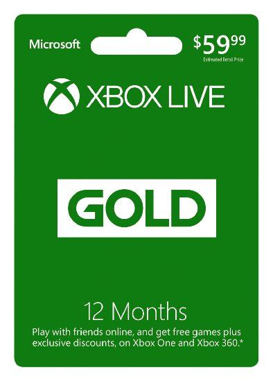 Xbox Live Gold 12 Month Digital Code only $39.99 (reg $59.99)
