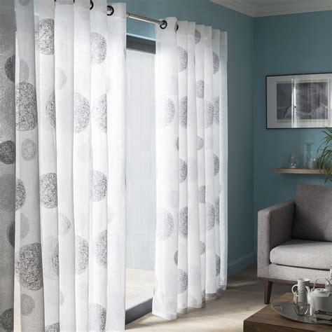 voilages chambre voilage tamisant grande largeur 5 mondes blanc et gris