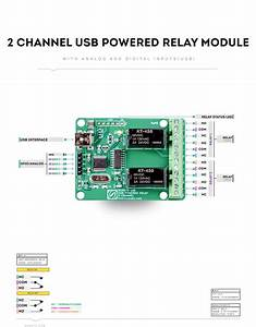 2 Channel Usb Powered Relay Module With Gpio