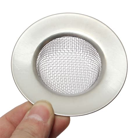 mesh sink strainer with stopper kitchen bath basin sink drain strainer waste hair mesh