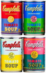 Andy Warhol Branded Campbell's Soup Cans Available at ...
