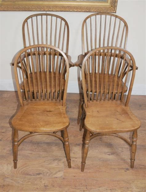 8 Oak Windsor Kitchen Dining Chairs Farmhouse Chair  Ebay