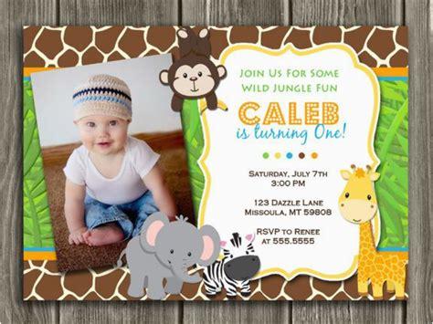 jungle theme birthday invitation template  safari