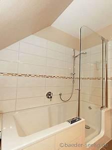 Sitzbadewanne Mit Dusche : badewanne mit t r in der dachschr ge badezimmer in hamburg zuk nftige projekte pinterest ~ Frokenaadalensverden.com Haus und Dekorationen
