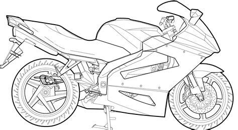 Desenhos Para Imprimir De Motos Coloring City