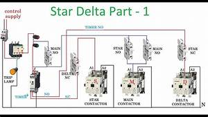 Star Delta Starter Connection Diagram With Timer