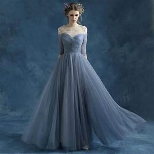 bridesmaid dress blue grey perspective halter bride With grey wedding dress